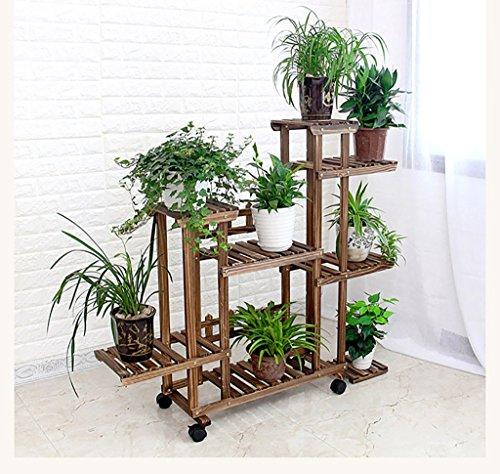 LWJJHJ Pflanzenpyramide Blumenständer massiv Holz Blumenregal Blumenregal Mehrstöckig Blumenständer aus Bambus Küchenregal (Design : B)