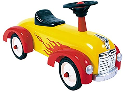 Great Gizmos Speedster Yellow and Red Foot-to-Floor Quad Ride On
