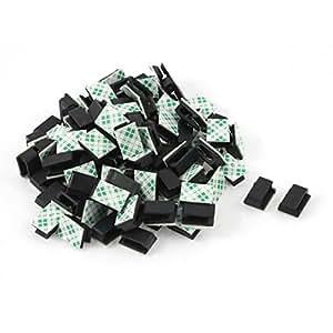 100 st ken kleben draht kabel halter binder klemmer halterung sortierer klammer baumarkt. Black Bedroom Furniture Sets. Home Design Ideas