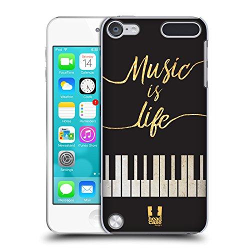 Head Case Designs Leben Piano Musik Kunst Ruckseite Hülle für iPod Touch 5th Gen / 6th Gen (Ipod Touch 5 Case Musik)