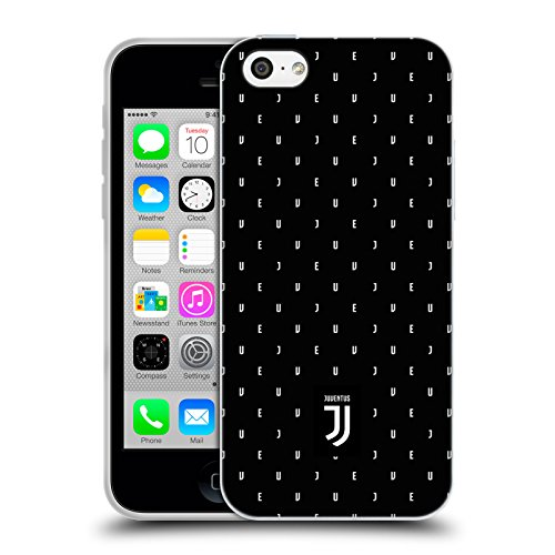 Offizielle Juventus Football Club Logotype Lifestyle 2 Soft Gel Hülle für Apple iPhone 6 / 6s Schwarzes Logo Mustertyp