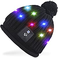 Rotibox Elegante LED String Light Up cappello Beanie cappello a maglia con  fili di rame Luci 8b4b4591b09e