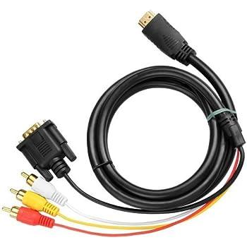 CABLE CONVERTISSEUR HDMI VERS VGA 3 RCA 1080P HDTV DVD