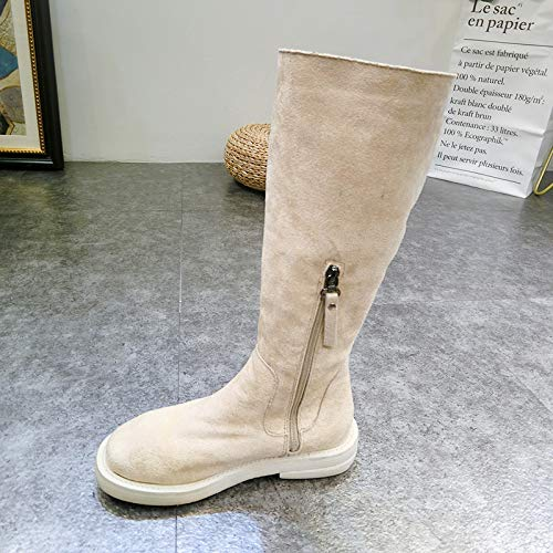 Calzature Shukun Scarpe da neve da donna Snow Boots Female Winter White Short Boots Flat Thick Cotton Boots Student Fashion Short Tube Cotton Shoes Stivali da escursionismo