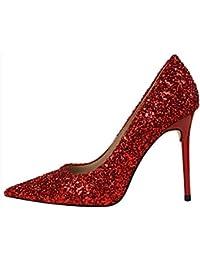 HIGHXE Europa y los Estados Unidos de Viento Zapatos Finos con la Boca de  tacón Alto 4261ce642657