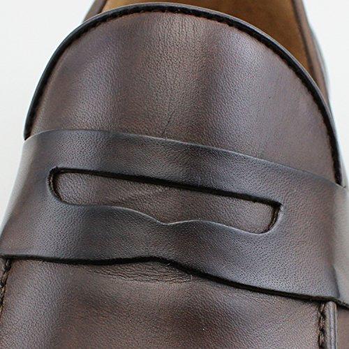 Cuir Marron Italiennes Homme Chaussures Shoes Mocassins 1cFlKJ