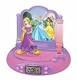Lexibook - Disney PrincesseRadio Réveil Projecteur,Disney Princesse,RP515DP