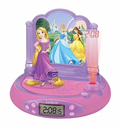 Princesas Disney - RP515DP Rapunzel Radio Despertador con Proyector De Hora De Rapunzel, Color (Lexibook RP515DP)