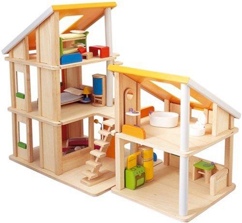 PLANTOYS 13571410 - Chalet Puppenhaus mit Möbeln