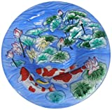 Continental Art Center cac2603520Vogeltränke Glas Schüssel, 13von 2Zoll, Koi Fisch