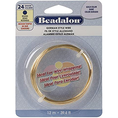 German Style Wire-Gold Round - 24 Gauge, 37.4'