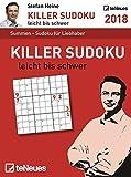 Stefan Heine: Killer Sudoku 2018 - Tagesabreißkalender, Rätselkalender, Logik und Wissen  -  11,8 x 15,9 cm
