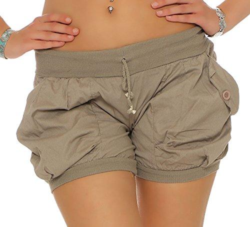 malito-shorts-dans-uni-couleur-avec-elastique-ceinture-de-pantalon-6087-femme-xl-fango