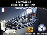 MyAutoLight - Coffret Ampoules Led Voiture - Veilleuses - Blanche Xénon Pour 208 - Feux de Jour - Position