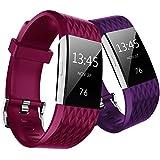Hanlesi Fitbit Charge 2 Correa Edicion Especial Reemplazo Bandas TPU Soft Wristbands para Fitbit Charge 2 Pulsera de Actividad Física