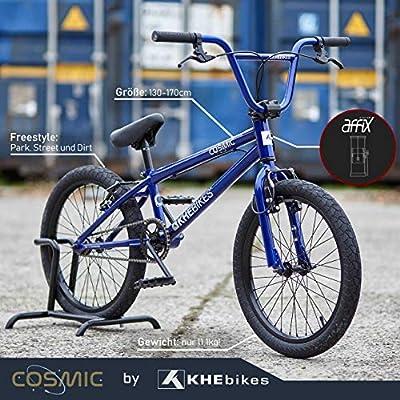KHE BMX Cosmic 20 Zoll Fahrrad mit Affix Rotor nur 11,1kg [Blau Schwarz Weiß] ...