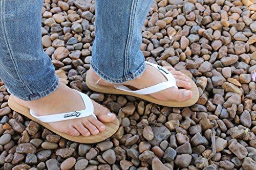uoody Infradito per Donne, Sandali Flip Flop Flessibili, Calzature Casual Comode e Carine, Migliora ora la Tua Esperienza Nel Passeggiare Bianco