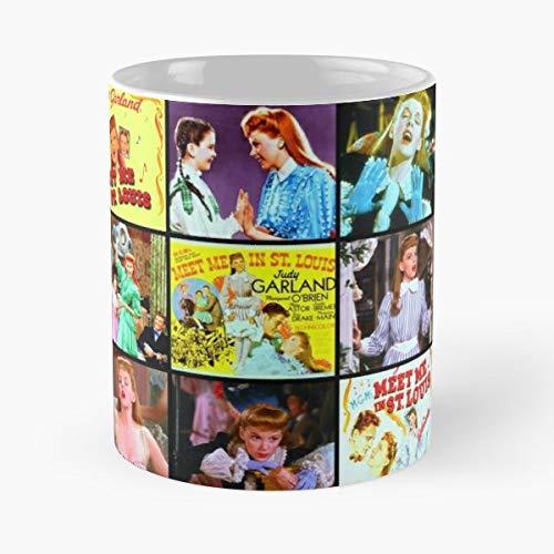 Judy Garland Meet Me In St Louis Classic Movies Musical - Bestes 11 Unze-Keramik-Kaffeetasse Geschenk China Blue Garland