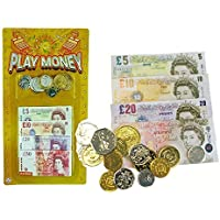 Preisvergleich für 2 Packs Of childrens play money English notes and coins bulk pack by Henbrandt