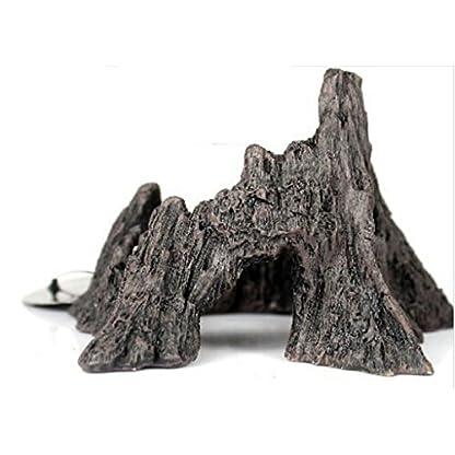 Vivarium Terrarium Ornament Reptile Lizard Basking Breading Hide Cave Aquarium Decor Mountain Shaped 4