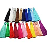 21pcs 3.5cm(1.4'') High Quality Silky Road Tassels with Silver Jump rings DIY Jewelry Accessory