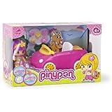 Famosa Pin y Pon Cochecito picnic - Coche de juguete para muñecos pinypon con 1 figura y accesorios, colores variados