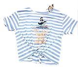 Primark Damen T-Shirt Light Blue/White Gr. Medium 36-38, Light Blue/White