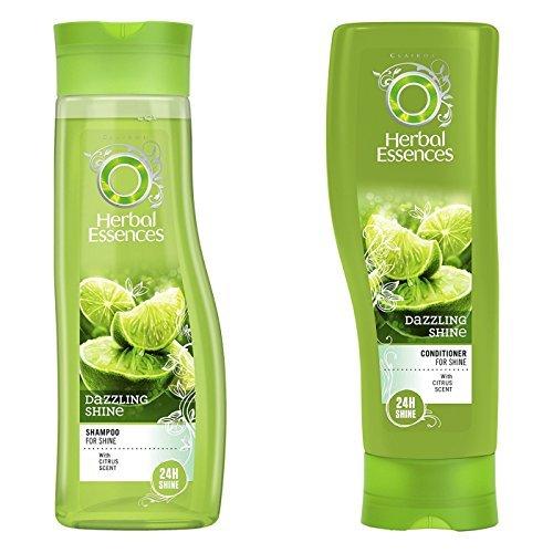 Herbal Essences Glanz (Herbal Essences Brillance Shampoo & Conditioner im Set, mit Zitrusduft Paket mit exklusiven Beauty-Tipps (evtl. nicht in deutscher Sprache))
