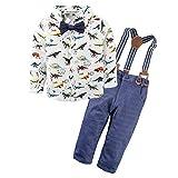 BIG ELEPHANT Niños Bebes' Conjunto de ropa de camisa de 2 piezas con tirantes L64-90