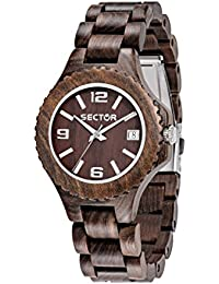 Sector Herren - Armbanduhr NO Limits NAT Analog Quarz Holz R3253478012
