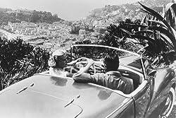Moviestore Cary Grant als John Robie unt Grace Kelly als Frances Stevens in To Catch a Thief 91x60cm Schwarzweiß-Posterdruck