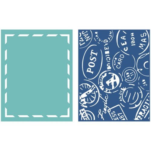 Goosebumpz A2 Embossing Folders 2/Pkg-Around The World -