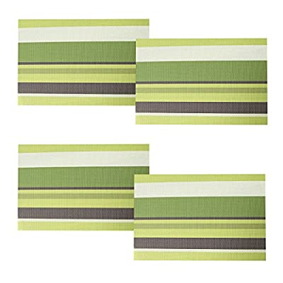 Homcomoda Placemats Washable Dining Table Mats Heat Resistant Vinyl Place Mats for Dining Table - inexpensive UK light store.