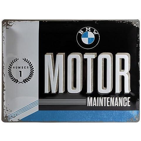 Nostalgic-Art 23228BMW Moteur, plaque métallique, Métal, multicolore, 30x 40x 0,2cm