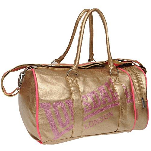 Lonsdale-Bolsa de deporte (para dorado bolso-Mochila para niños Gymbag, dorado