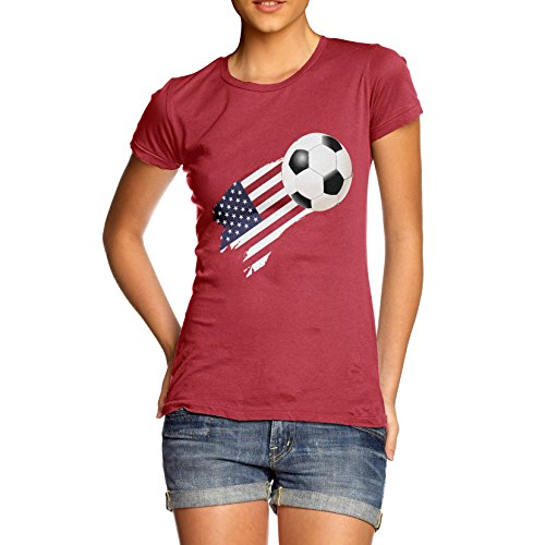 TWISTED ENVY  Damen T-Shirt Rot