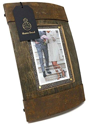 Handgemachtes einzigartiges Whisky-Fass und Harris Tweed-Foto-Rahmen (Bilge)