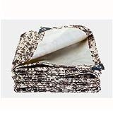 GNNHY GNNHY Heavy Duty Tarp Persenning Verstärkter, Wasserdicht Tarp Blatt Premium Quality Abdeckung Tarp für Outdoor-Camping-verdickte Wüsten-Tarnung Oxford Cloth,4.5m×8m