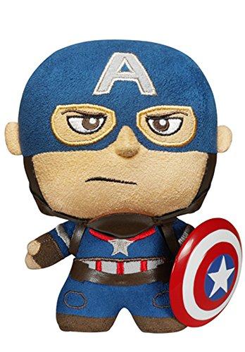 Funko - peluche marvel avengers - captain america fabrikations 15cm - 0849803050764