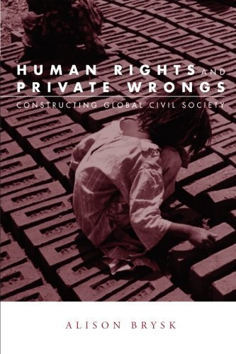 Human Rights and Private Wrongs: Constructing Global Civil Society (Global Horizons) by Brysk, Alison (2005) Paperback