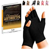 SyeJam Rheumatoid Arthritis Gloves Fingerless- Warmth Therapeutic Compression Gloves for Pain Relief- Support & Improve Circulation in Wrist & Hand, Helps with Carpal Tunnel & More