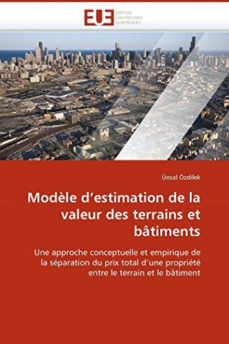 Modèle d''estimation de la valeur des terrains et bâtiments