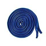 Flat Flexy-Laces, elastische Flache Schnürsenkel, Flachsenkel in 8 Top Farben (blau)