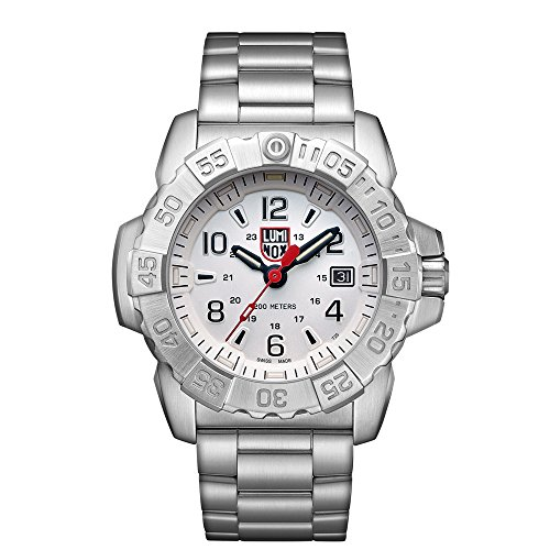 Luminox Mens Quartz Watch, Analogue Classic Display and Stainless Steel Strap XS.3258