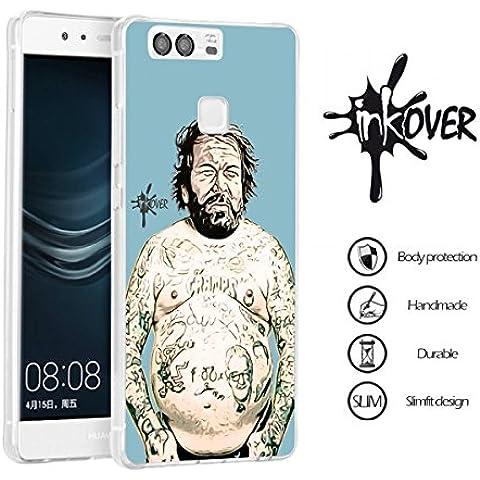 Custodia Cover Protettiva Soft Case Guscio Protettivo Bumper Trasparente Sottile Slim Fit Tpu Gel Gomma (Tatuaggio Di Gomma)