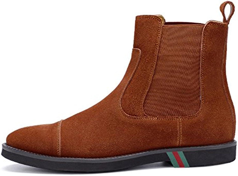 Chelsea moda di scarpe da uomo stivali alti scarpe casual lucidare gli stivali di pelle,Marronee,41 | Di Qualità Fine  | Uomo/Donna Scarpa