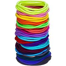 100 Piezas Elásticos de Pelo Coleteros Lazo de Pelo Banda (Multicolor)