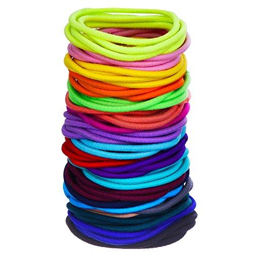 100 Stück Haar Elastische Haargummi Pferdeschwanz Halter Haarband (Mehrfarbig)