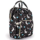 Motherly Baby Diaper Bag, Mothers Maternity Bags for Travel (Unicorn Black)