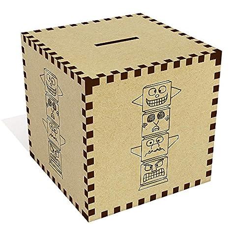 Large 'Totem Pole' Money Box / Piggy Bank (MB00031031)
